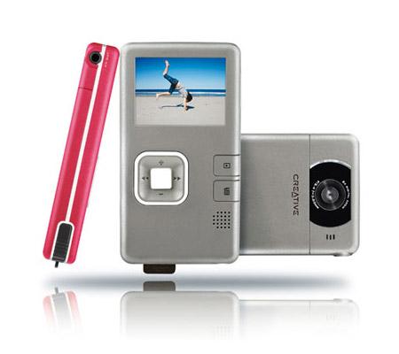 Video cámara de bolsillo de creative