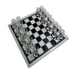 Tablero de ajedrez con chupitos