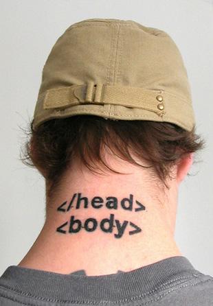 Tatuaje Friki HTML
