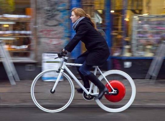 La rueda de Copenhague, La bici que anda sola