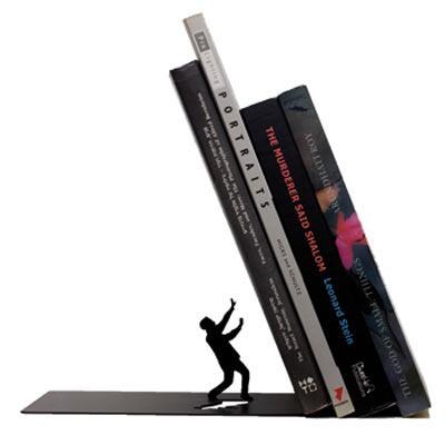Sujetalibros original Falling Bookend