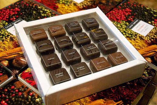 Chocolates y bombones cacao sampaka